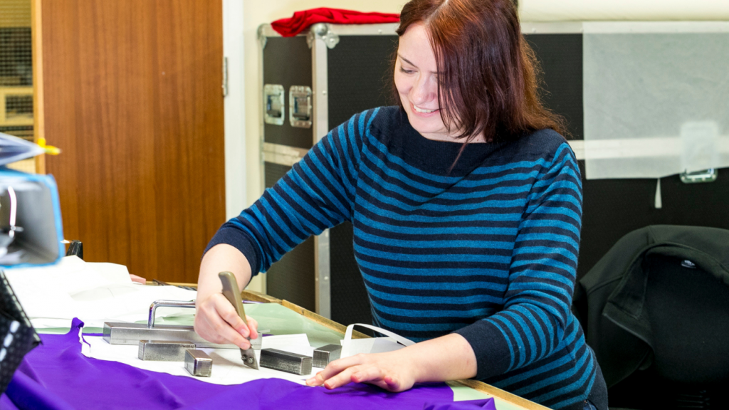 Charlotte on of DM Orthotics highly specialised pattern cutters